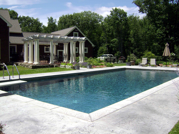 Rectangle Pool rectangle shape gunite pools gallery 203-791-0307 | l & j pools