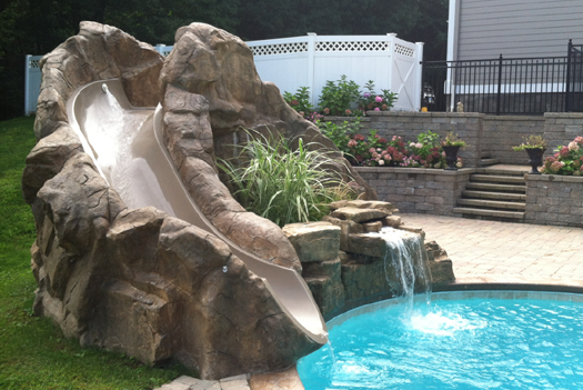 Pool Waterfalls And Slides 203 791 0307 L Amp J Pools